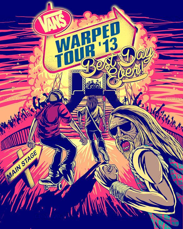 edb7bf07ad Vans Warped Tour Poster by Ally of the Year nominee Blood Diamond on  CreativeAllies.com