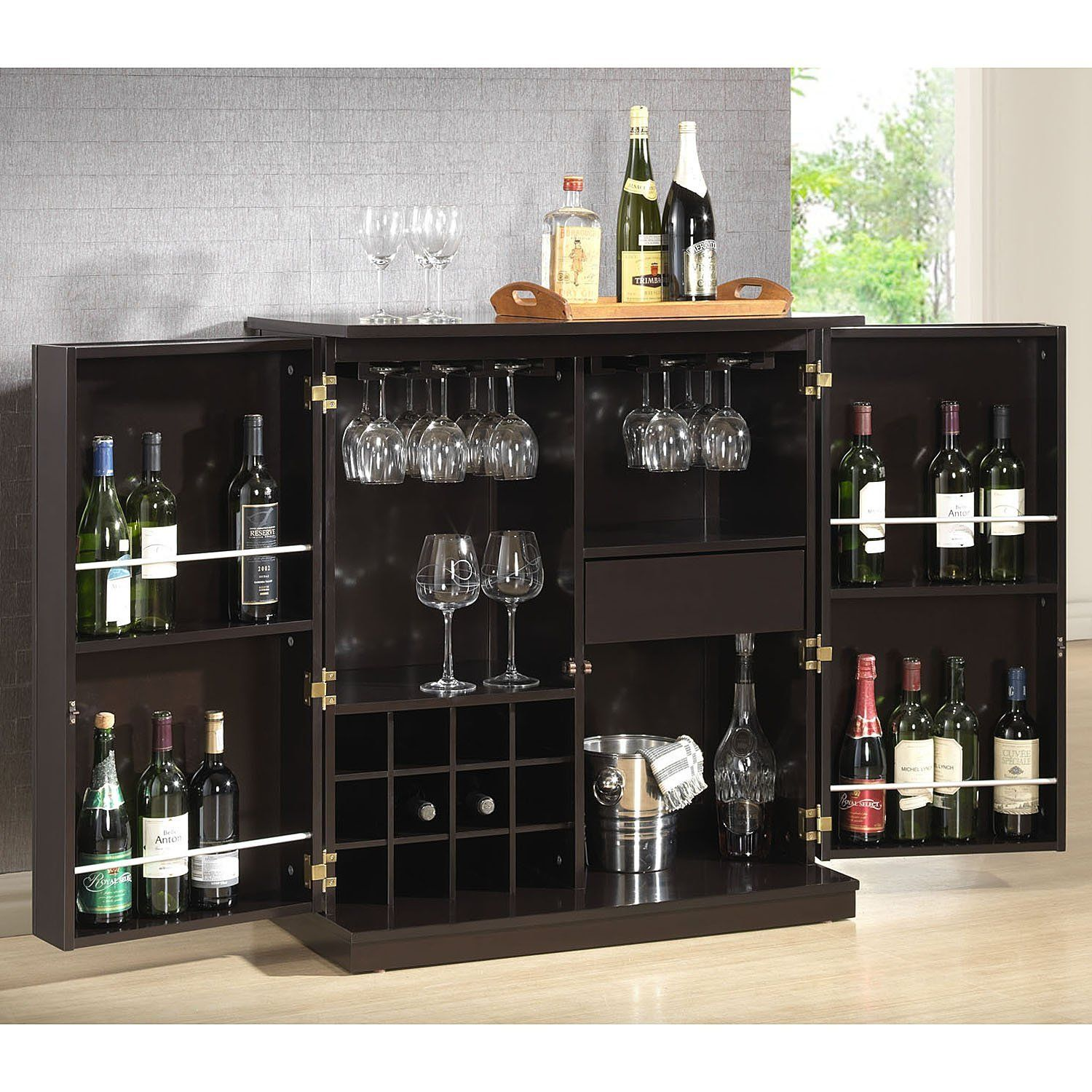 home mini bar furniture. Furniture: Cabinet Excellent Mini Bar With White Wall Design And Small Glass Windows For Home Furniture