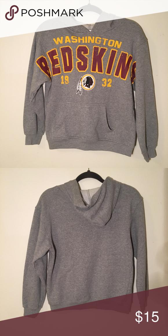 Nice NFL Washington Redskins Hoodie Sweatshirt Retro NFL kids' Washington  hot sale