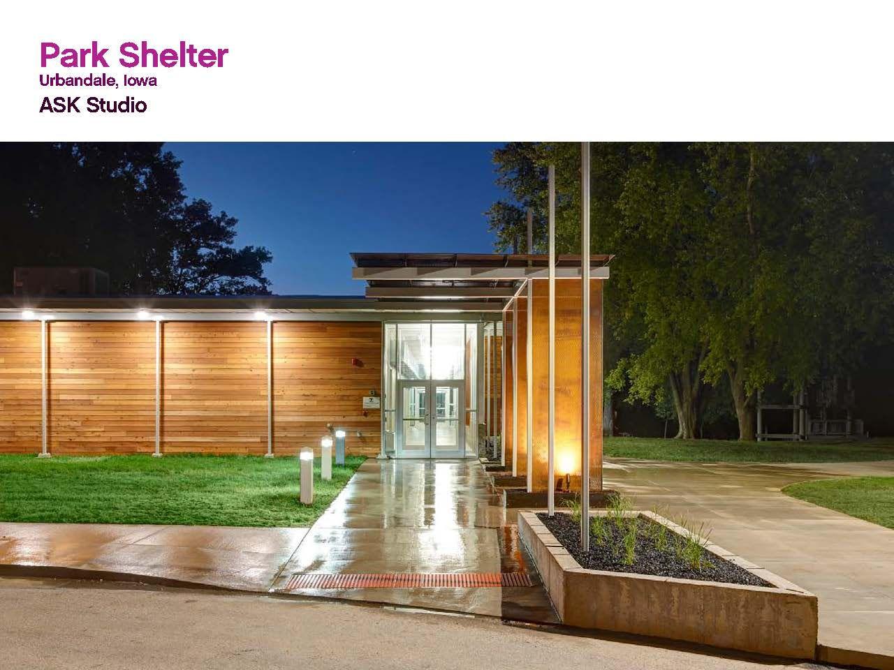 Park Shelter Designed By Ask Studio 2013 Design Award Winner