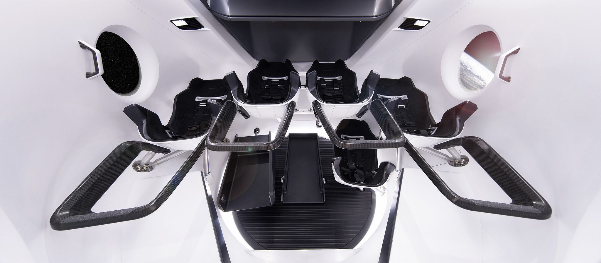 Crew Dragon Interior Spacex Spaceship Interior Transportation