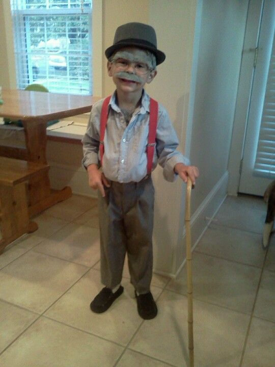 Old man costume - for 100th day of school  | 100th day