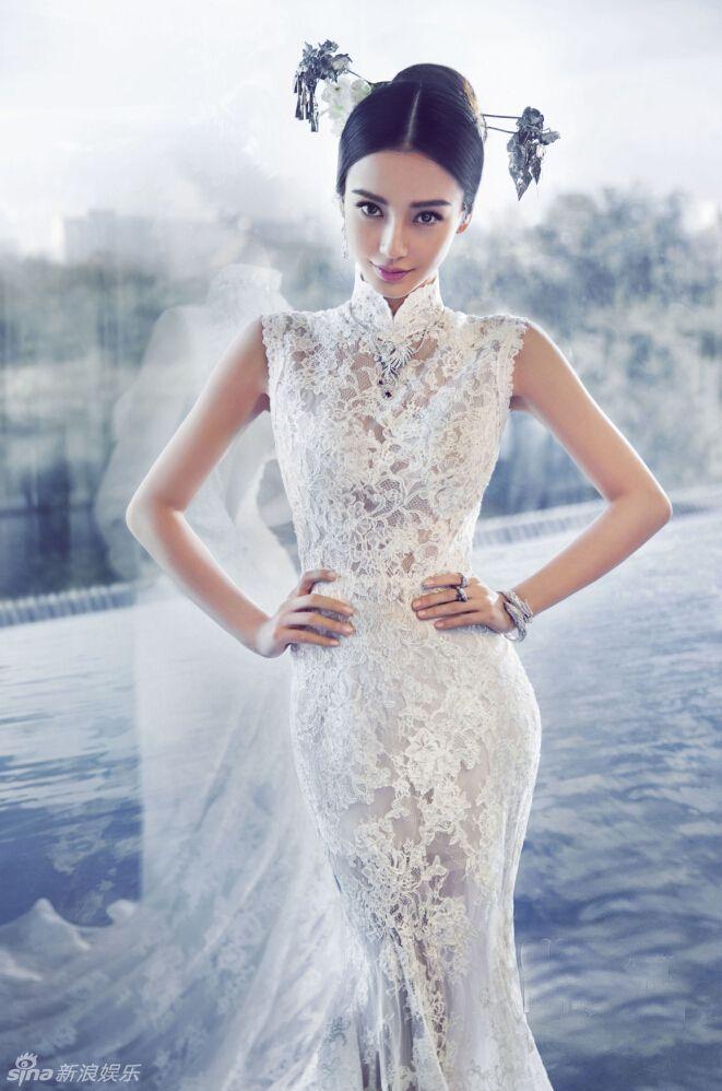 アンジェラベイビー 古典的なウェディングドレスの写真が発表_新華網日本語