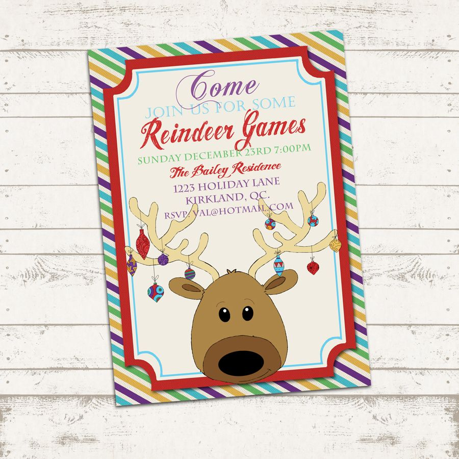 custom christmas party invitation