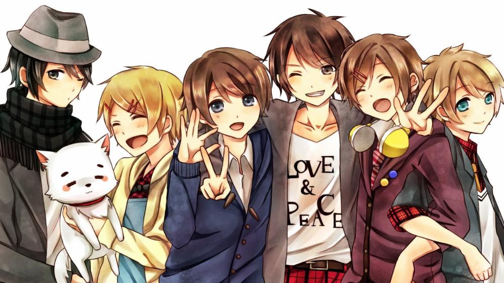 Anime Series Character Yuuto Group Wallpaper 2560x1440 726659 Wallpaperup Friend Anime Anime Group Of Friends Anime Group