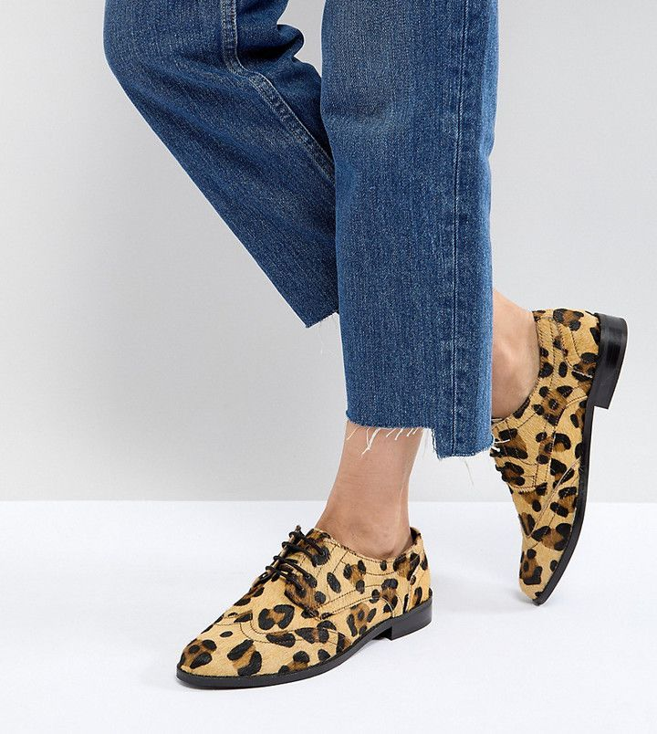 Leather brogues, Leopard print shoes