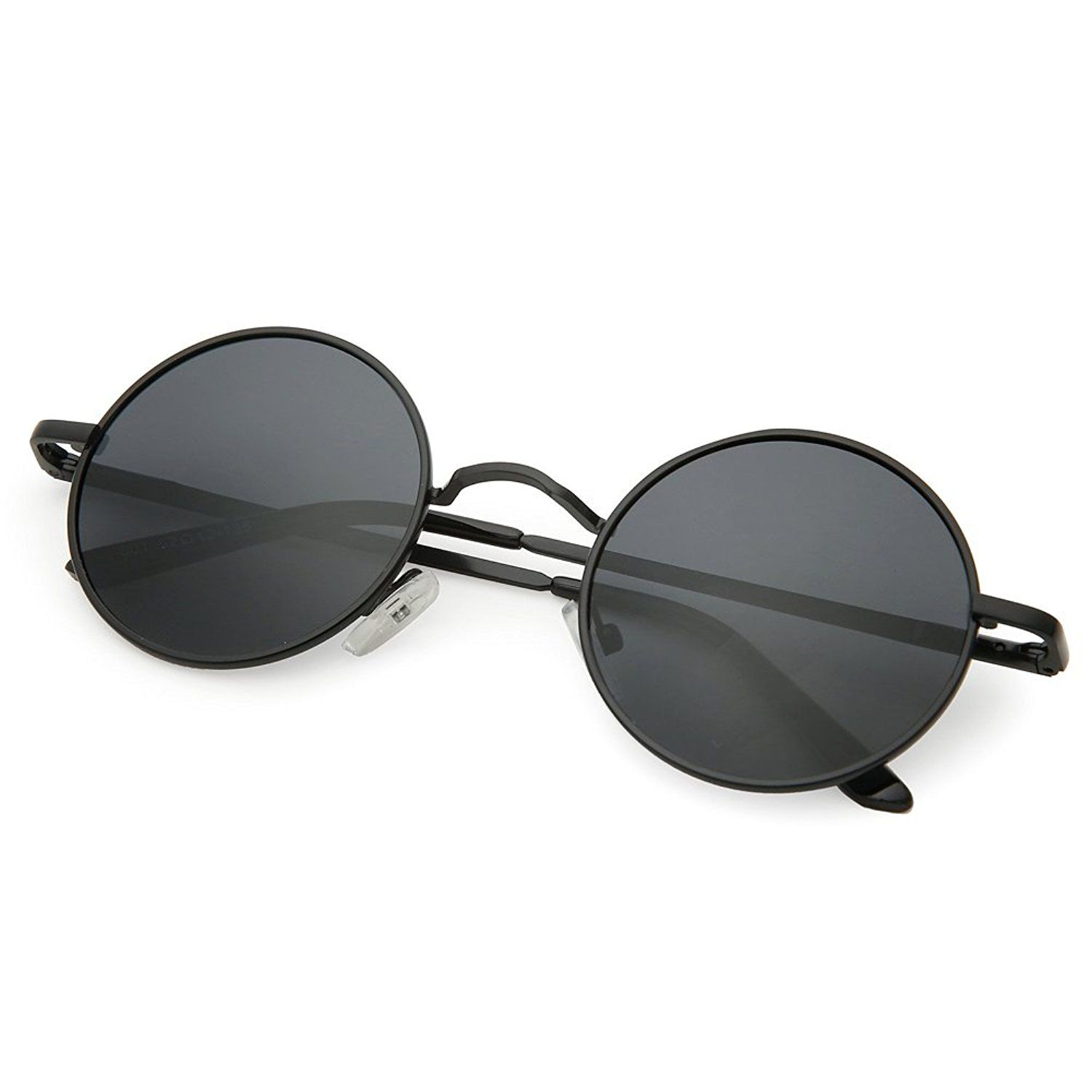 14da82830b5e Amazon.com  Joopin-Round Retro Polaroid Sunglasses Driving Polarized Sun  Glasses Men Steampunk Vintage (Black Grey)  Clothing
