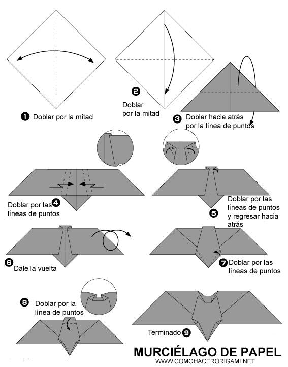 origami murcielago