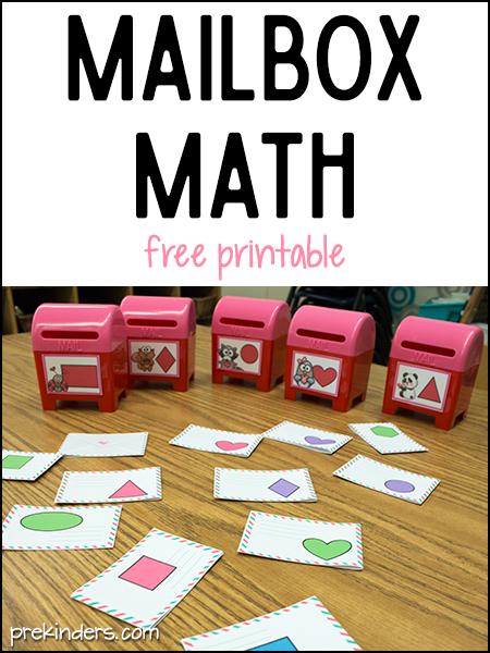 Mailbox Math for Valentine's Day in Preschool - PreKinders