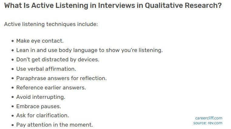 What Is Active Listening in Interviews