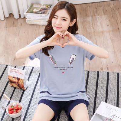 bdff7bd366 Home Clothes Women Pyjamas Two Piece 2018 Summer Pijama Plus size Cotton Pajama  Set Female Sleepwear
