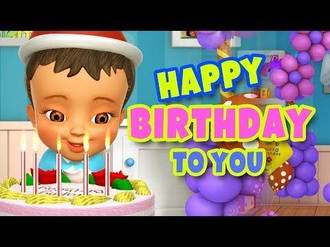 Happy Birthday Song Nursery Rhymes Kids Songs Abckidtv