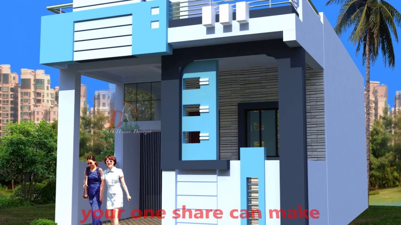Normal House Portico Design India