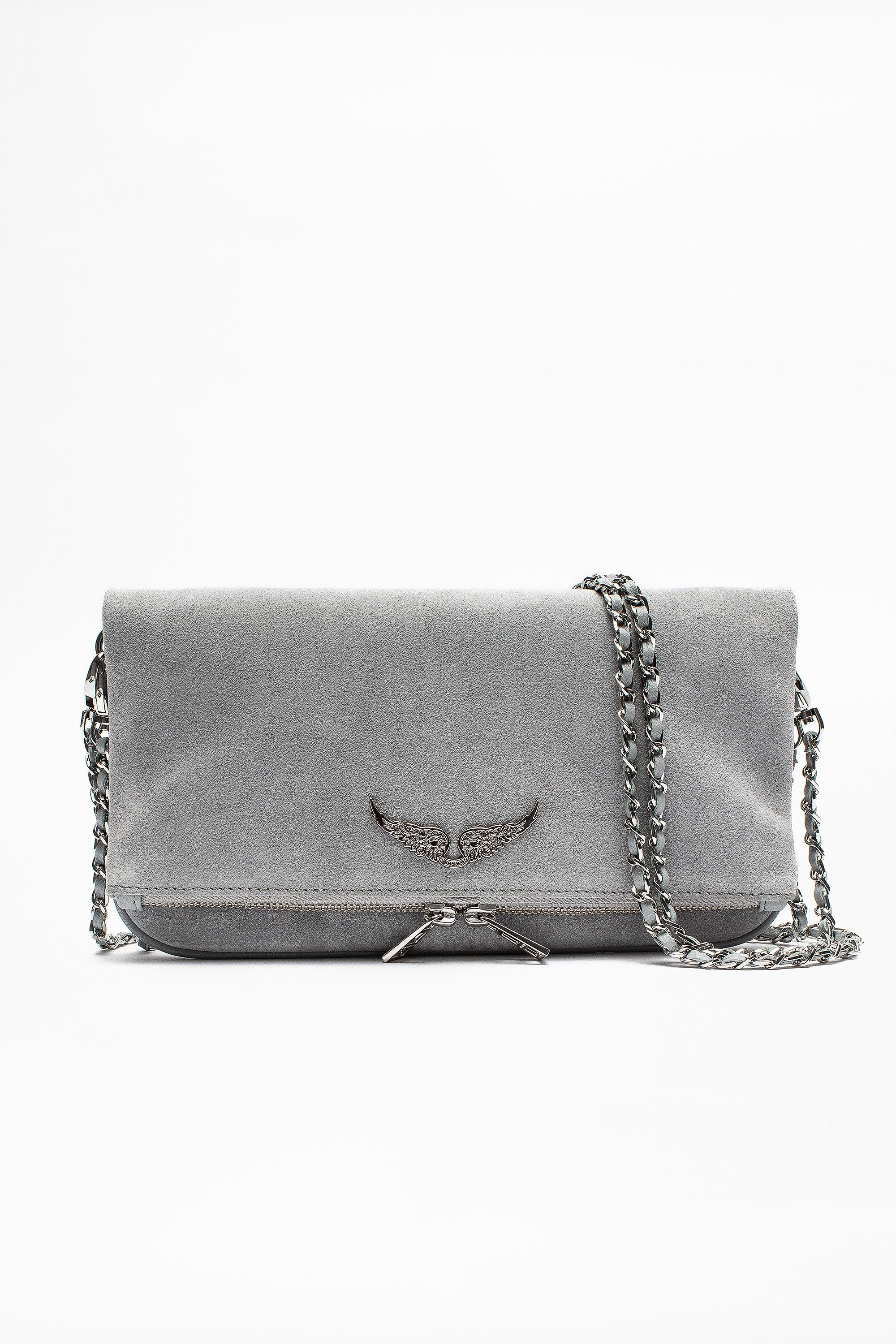 08dcc491d23 Rock Suede Bag women's Zadig&Voltaire,100% cow leather. Available in gray  gray.