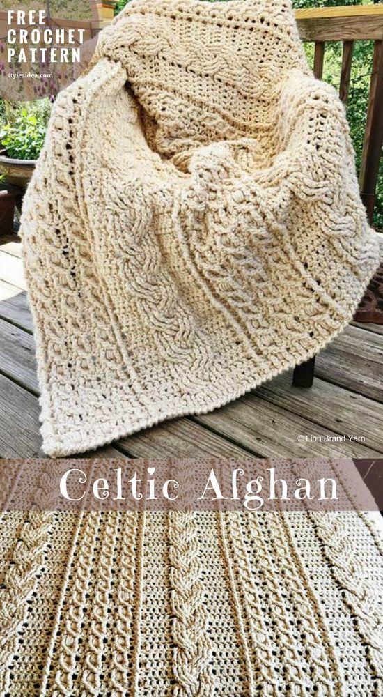 Celtic Afghan Crochet Pattern Free | Pinterest | Tuch stricken ...