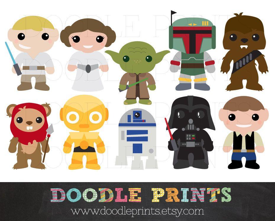 Star Wars Clipart  Digital Clip Art Printable  Star Wars