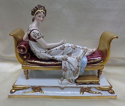 Estate Found French Porcelain Statue Jeanne-Françoise Julie Adélaïde Récamier