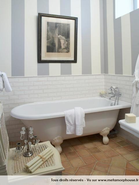 Photos décoration de Salle de bain Historique Boudoir Blanc Gris ...