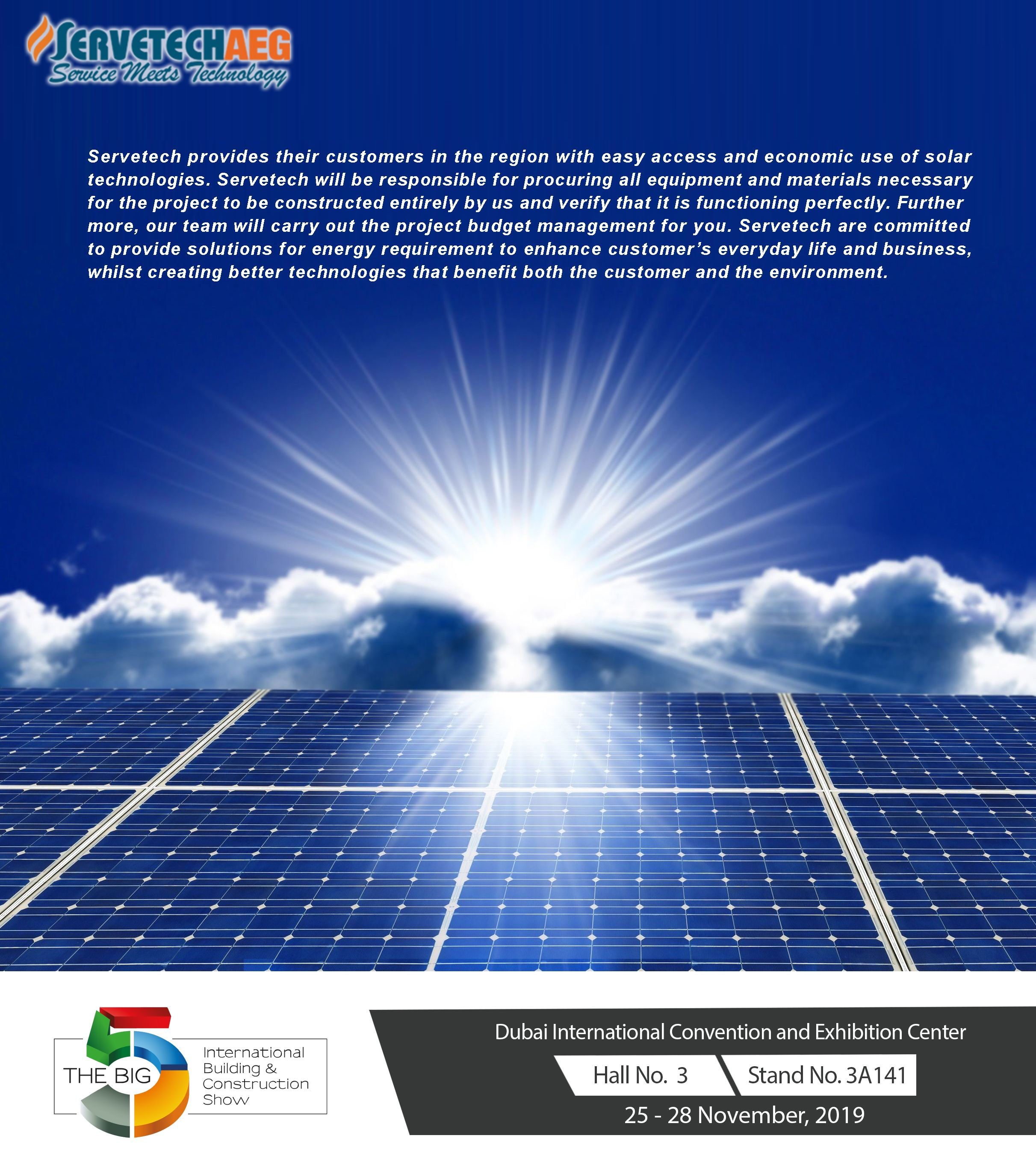 Servetechaeg Dubai Uae Solar Technology Solar Region
