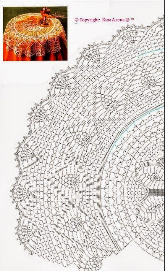 Стол одета   Все крючком   vivis   Pinterest   Forma circular ...