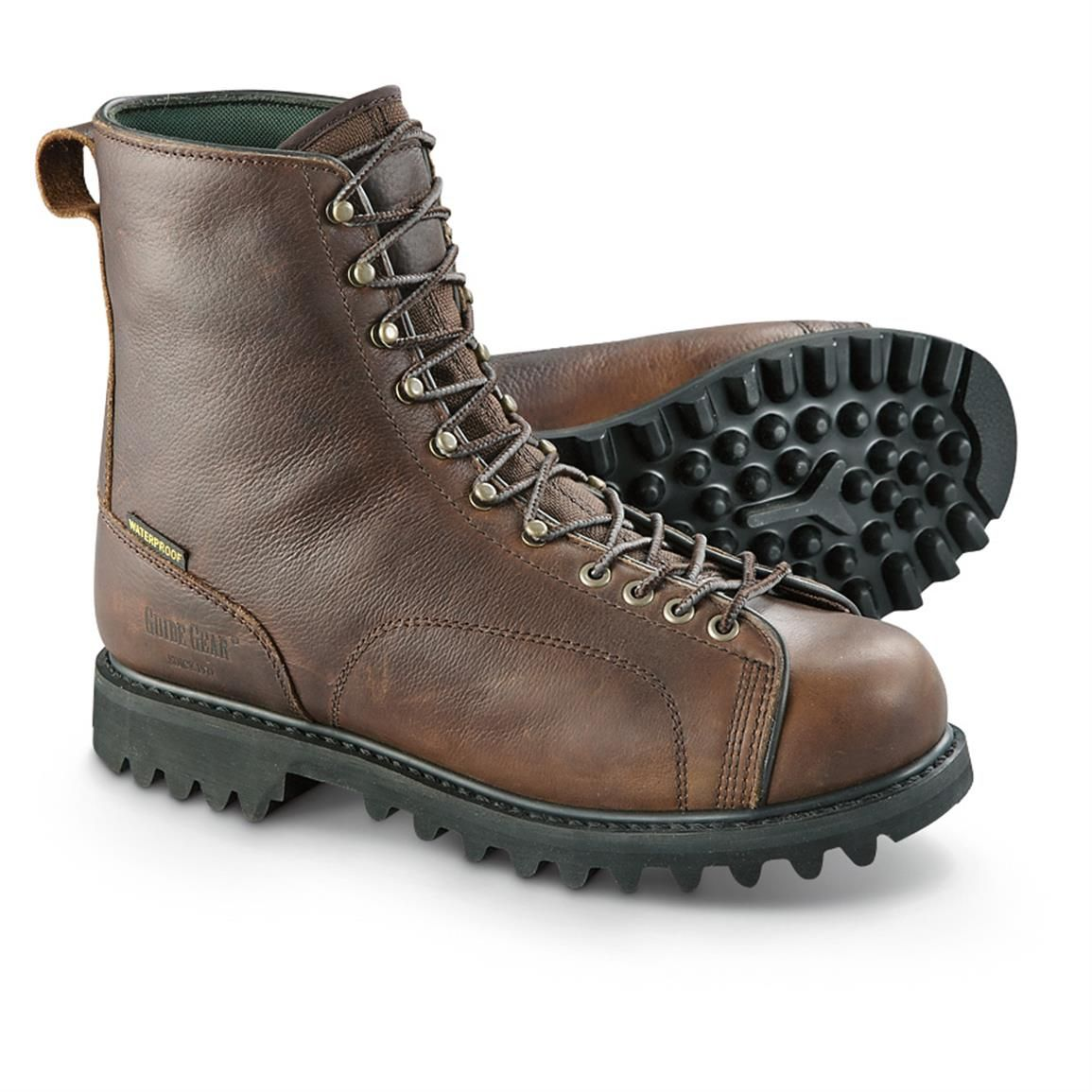 Guide Gear Men S Leather Lace To Toe Hunting Boot Boots Leather Hunting Boots Mens Leather Boots