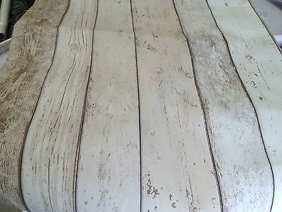 Shabby Chic Vintage Light White Cream Brown Distressed Wood