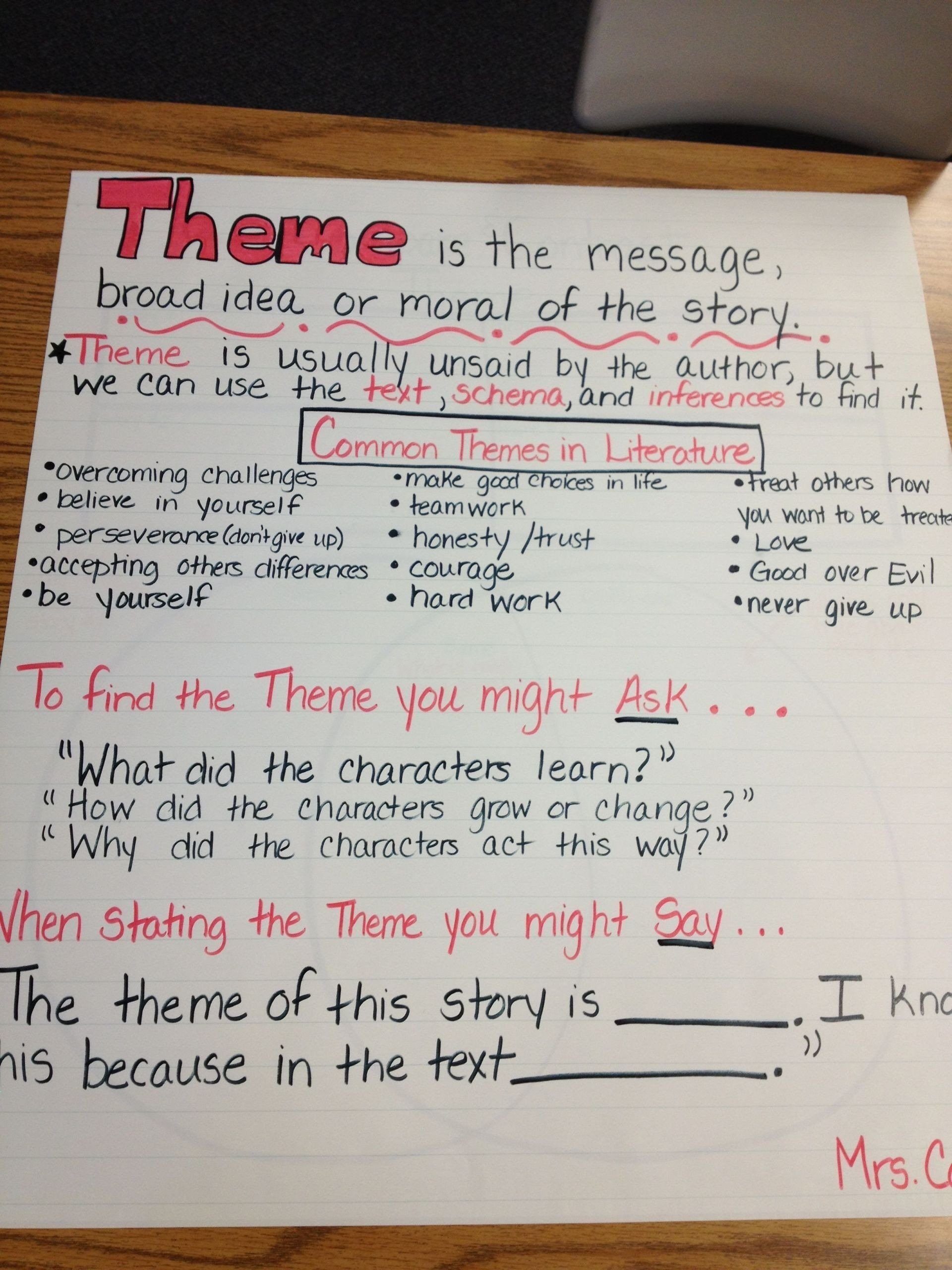 Theme Worksheet 4th Grade 6 Theme 4th Grade Reading Worksheets In 2020 In 2020 Theme Anchor Charts 4th Grade Reading Worksheets Anchor Charts