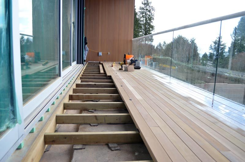 Deck Over Wood Sleepers At Sliding Door Architectural