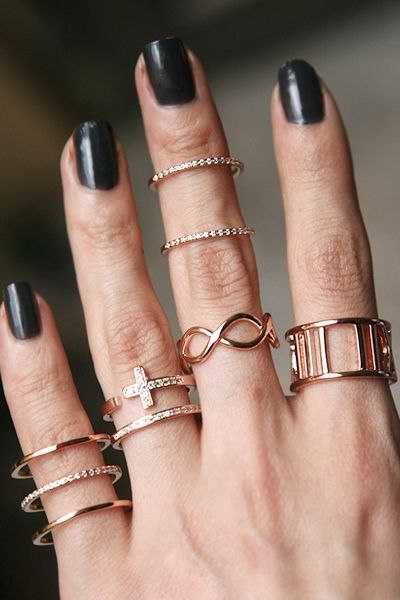 CZ Rose Gold Spacer Ring Wrap Ring wraps Rose and Wraps