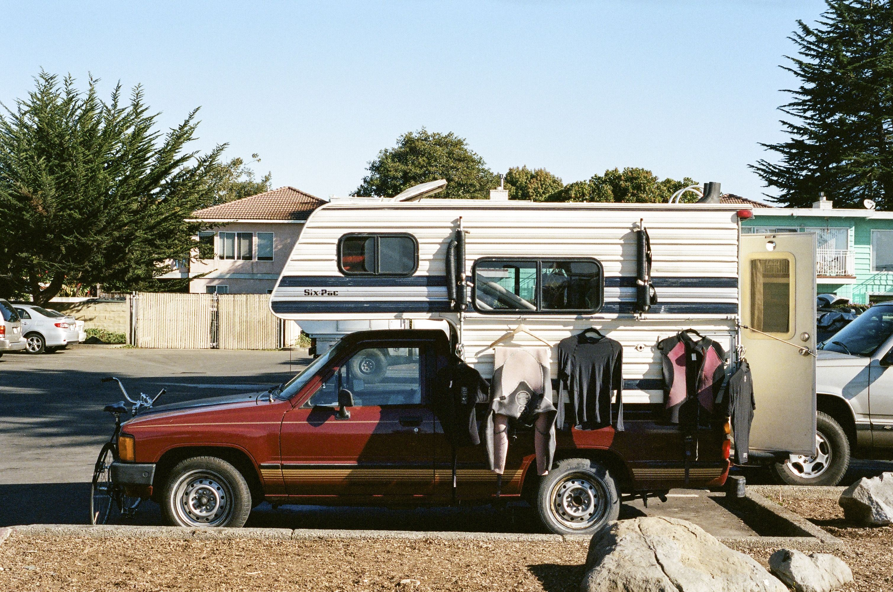 Toyota Truck And A Sixpack Camper Ships Of The Open Road