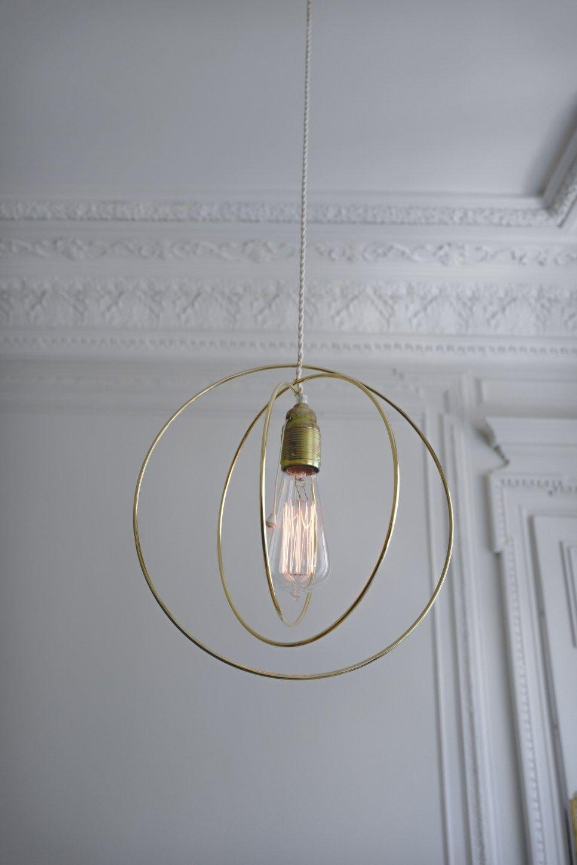 DIY – SUSPENSION EN LAITON   Idée luminaire salon, Diy suspension ...