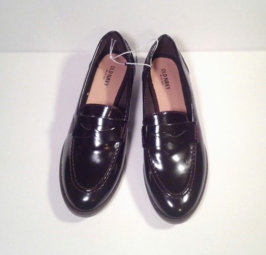 28f2dfd1b0c NWT Womens Old Navy Dark Burgundy Penny Loafers. Size 8.  OldNavy  Loafers