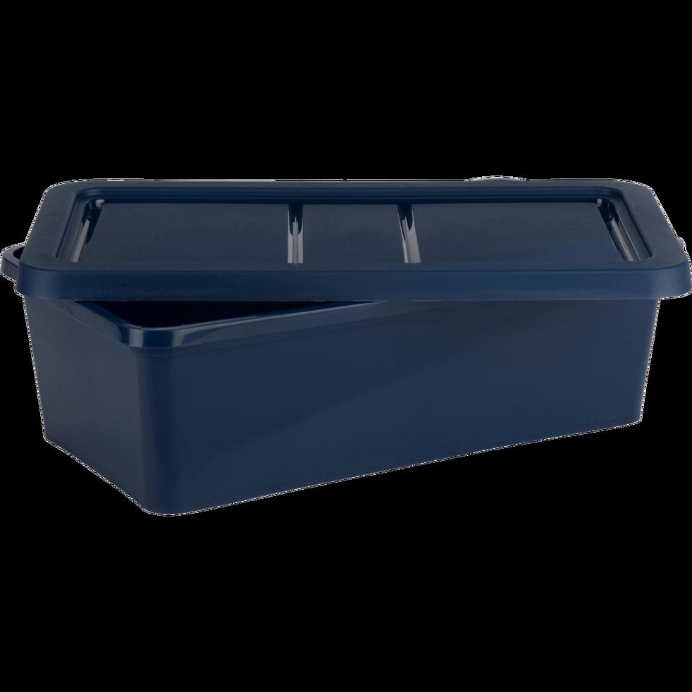 Boite De Rangement En Plastique Bleu H19xp10 5xl34 5 Cm Andati Alinea Rangement Plastique Boite Rangement Plastique Boite De Rangement