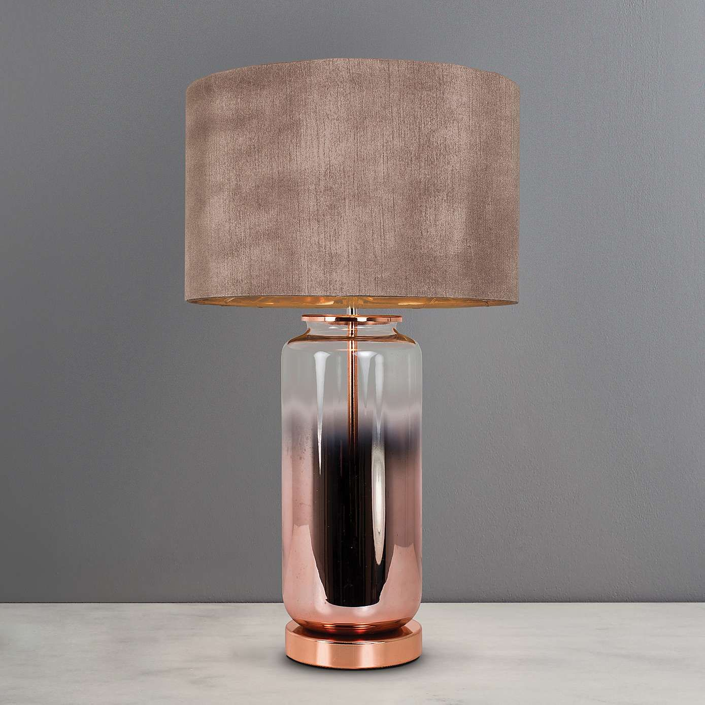 Metalic Ombre Copper Glass Table Lamp Dunelm Glass Table Lamp Copper Table Lamp Table Lamp