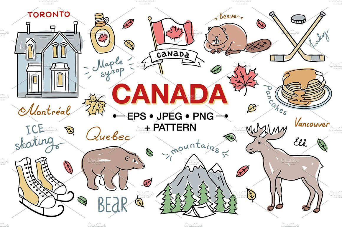 Canada Hand Drawn Illustrations resizevectorelements