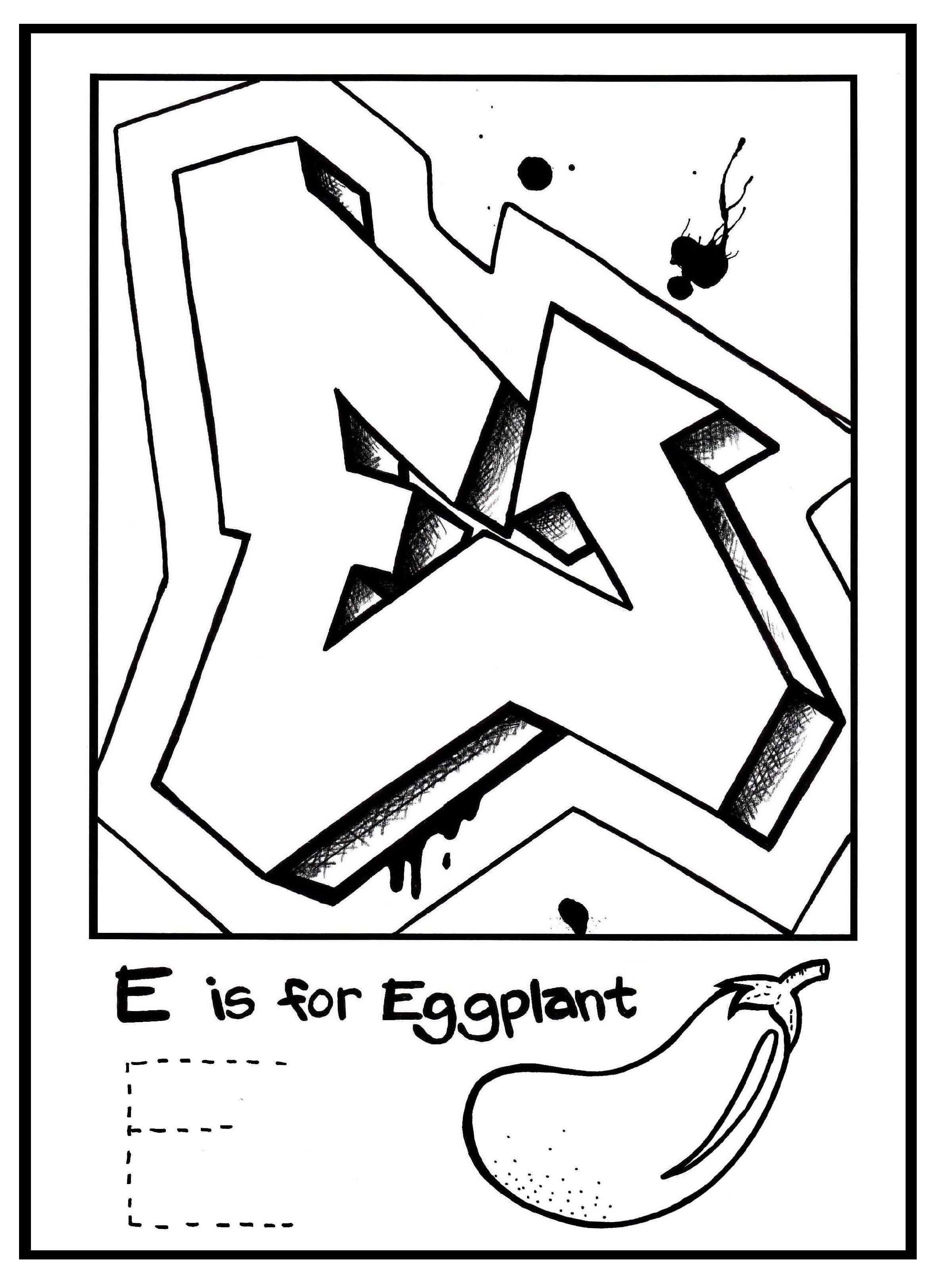 Graffiti art coloring pages - G Is For Graffiti Alphabet Coloring Book Free Coloring Page Learn To Draw Graffiti