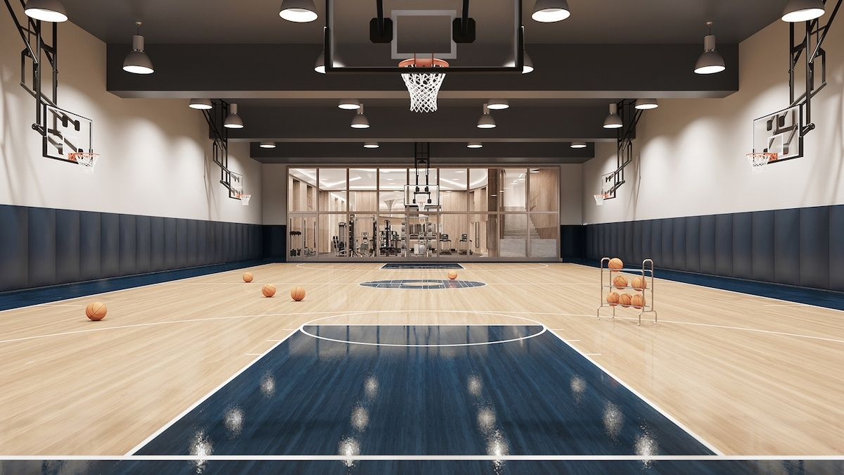 The 15 Best Gyms In Nyc Residential Buildings 6sqft Residential Building Home Basketball Court Florida Mansion