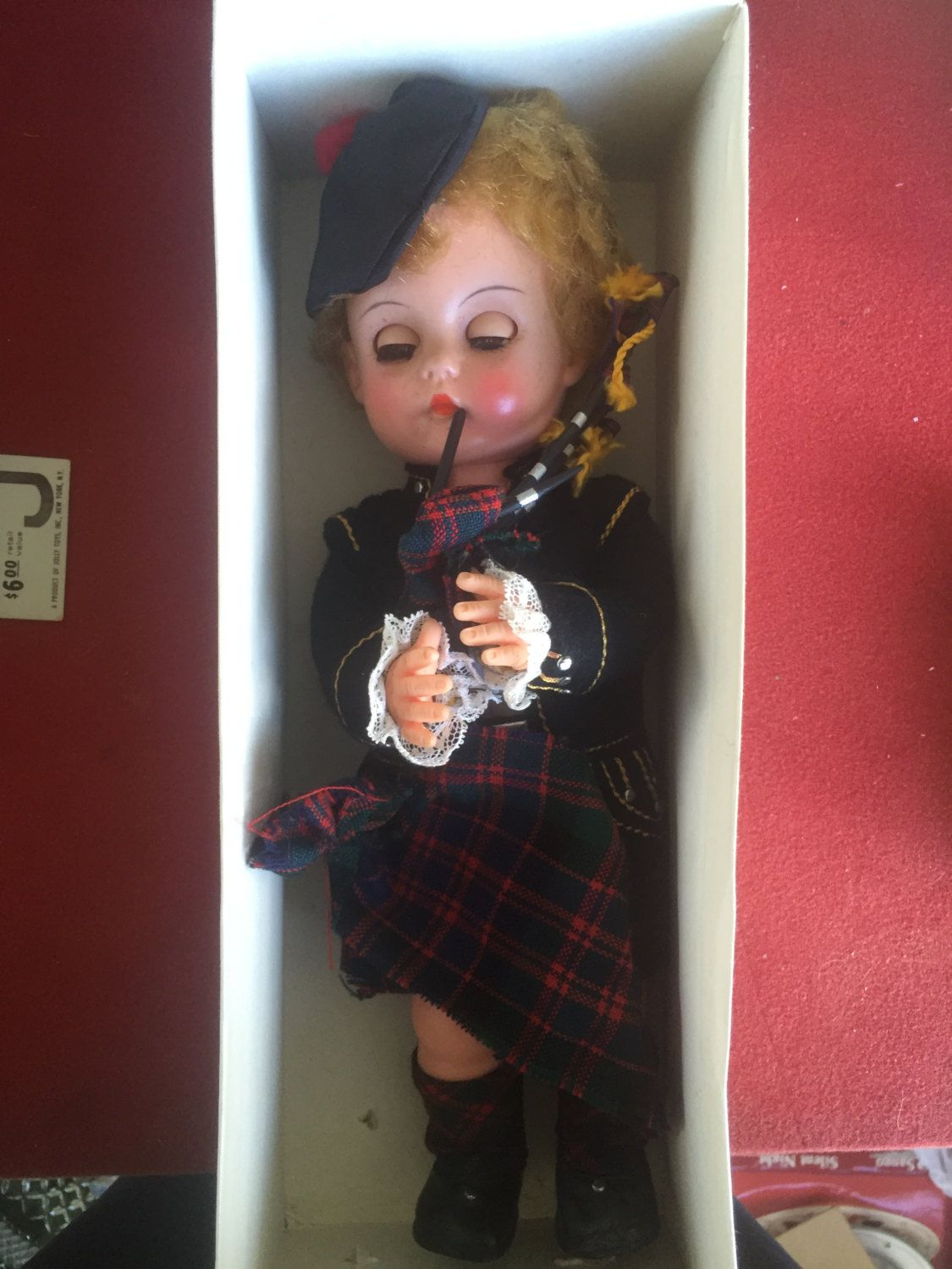 Vintage Highland Scottish Lassie doll with bagpipe from 1960's by…