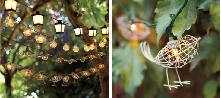 Love birds wedding decorations gallery wedding decoration ideas wire birds on string lights bird house wedding favors party junglespirit Gallery