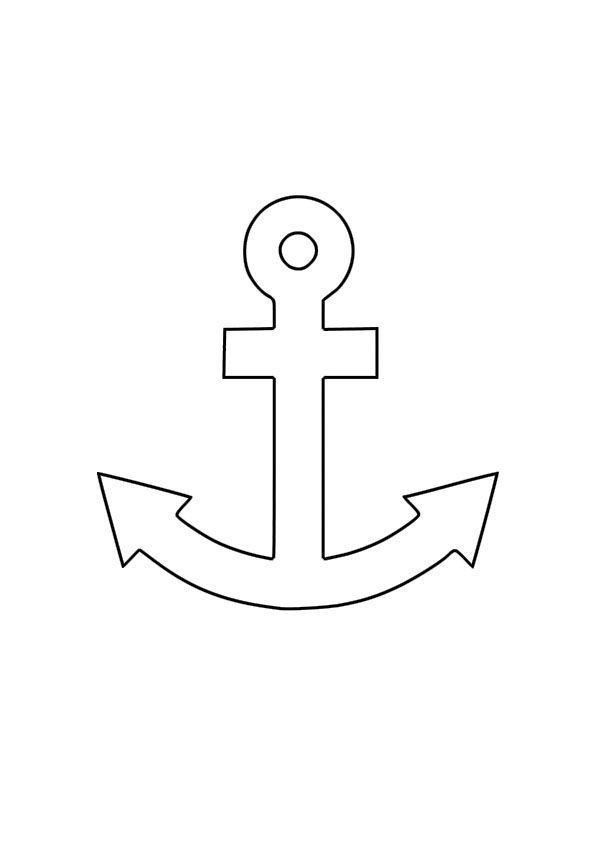 Plantilla De Ancla Para Aplicacion En Camiseta Baby Shower Con Tematica Nautica Patrones Anclas