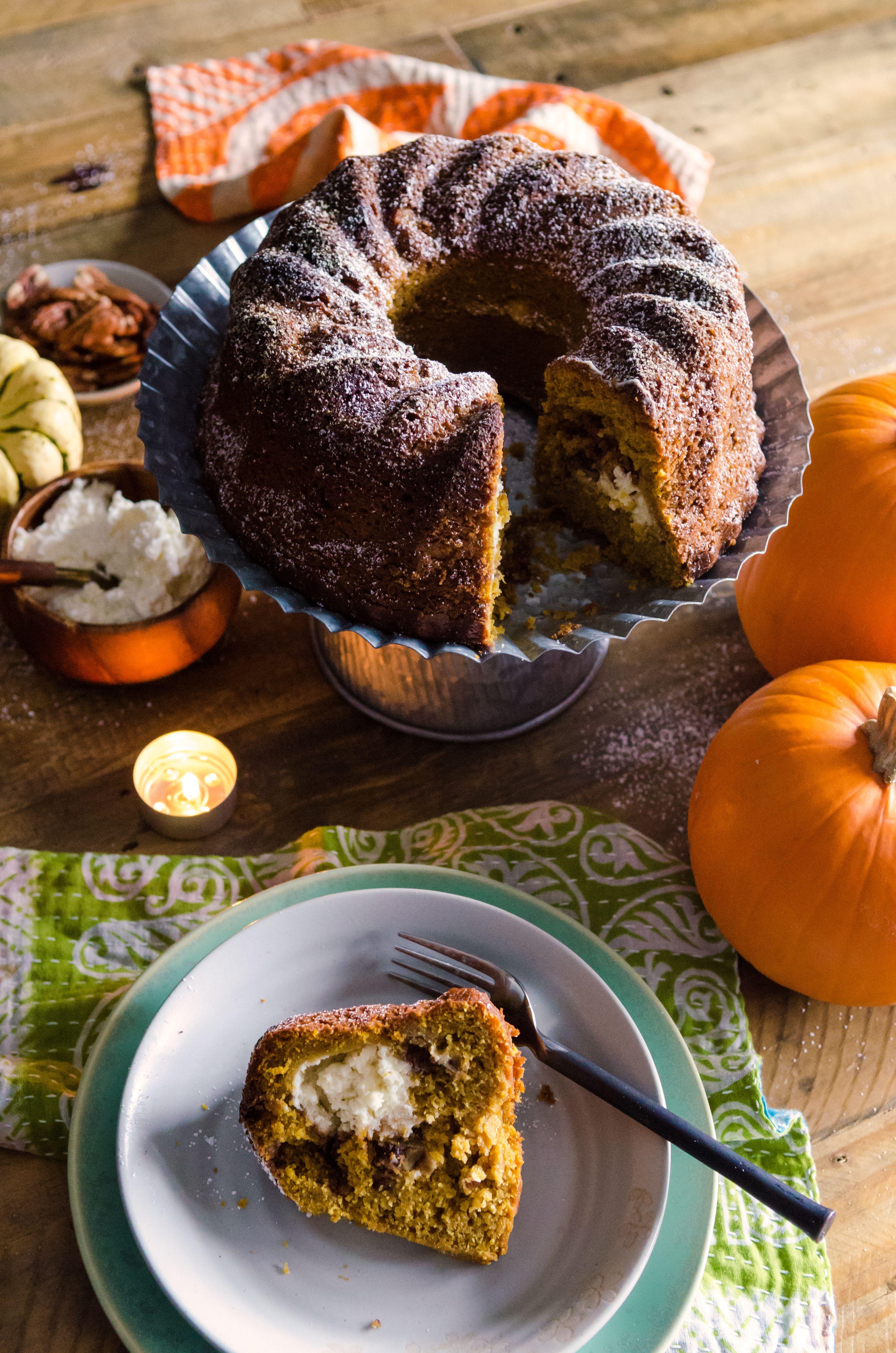Pumpkin Cream Cheese Coffee Cake Recipe Pumpkin cream