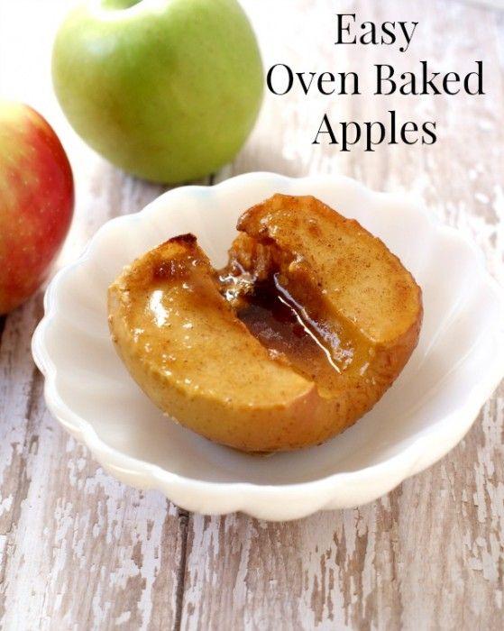 Easy Oven Baked Apple Recipe #applerecipes