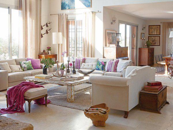 Una casa decorada al natural | Encanto rústico, Salon comedor y Rústico