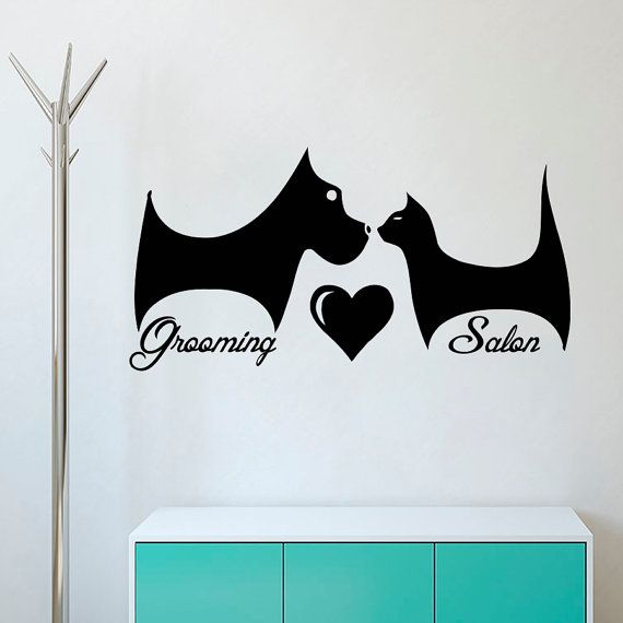 Grooming Wall Decal Pet Salon Decor Dog Home Ds273