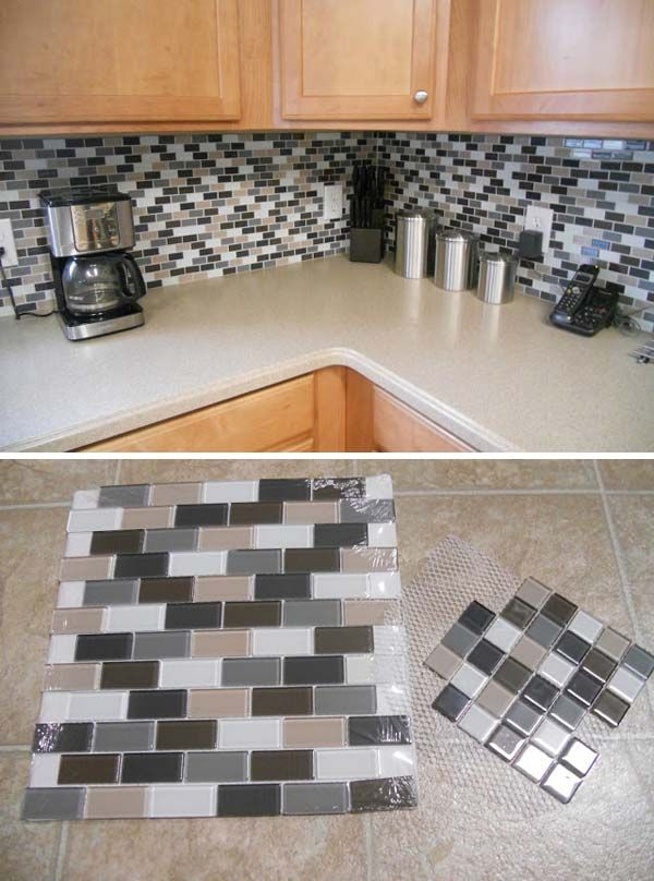5 ntelligent methods for an arranged kitchen 2 kitchen for Cheap backsplash ideas for kitchen
