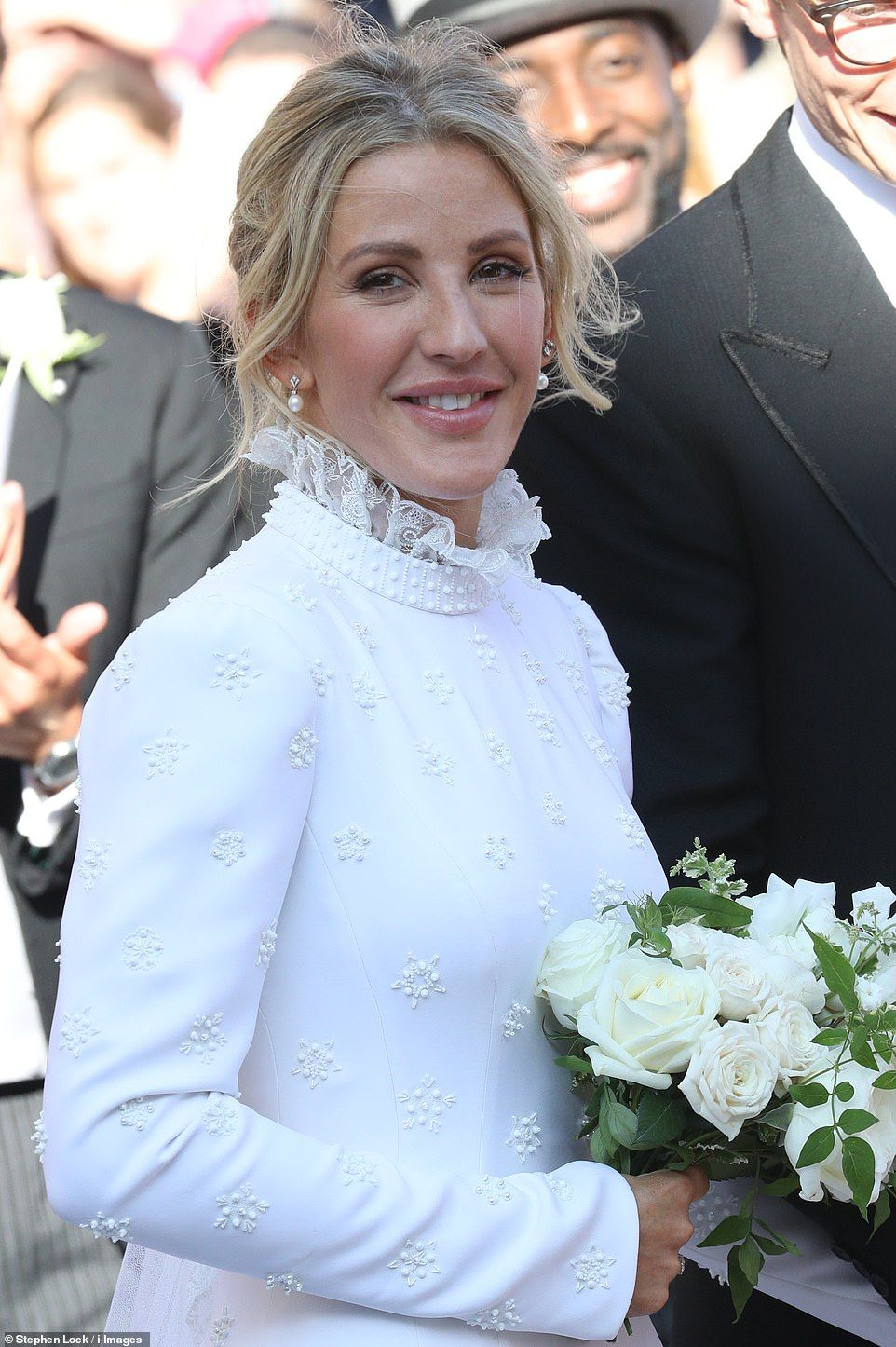Ellie Goulding Wears Traditional Gown For Wedding To Caspar