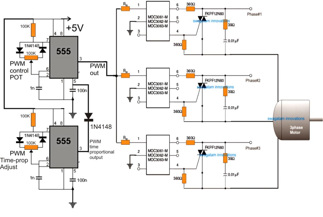 three phase motor wiring circuit