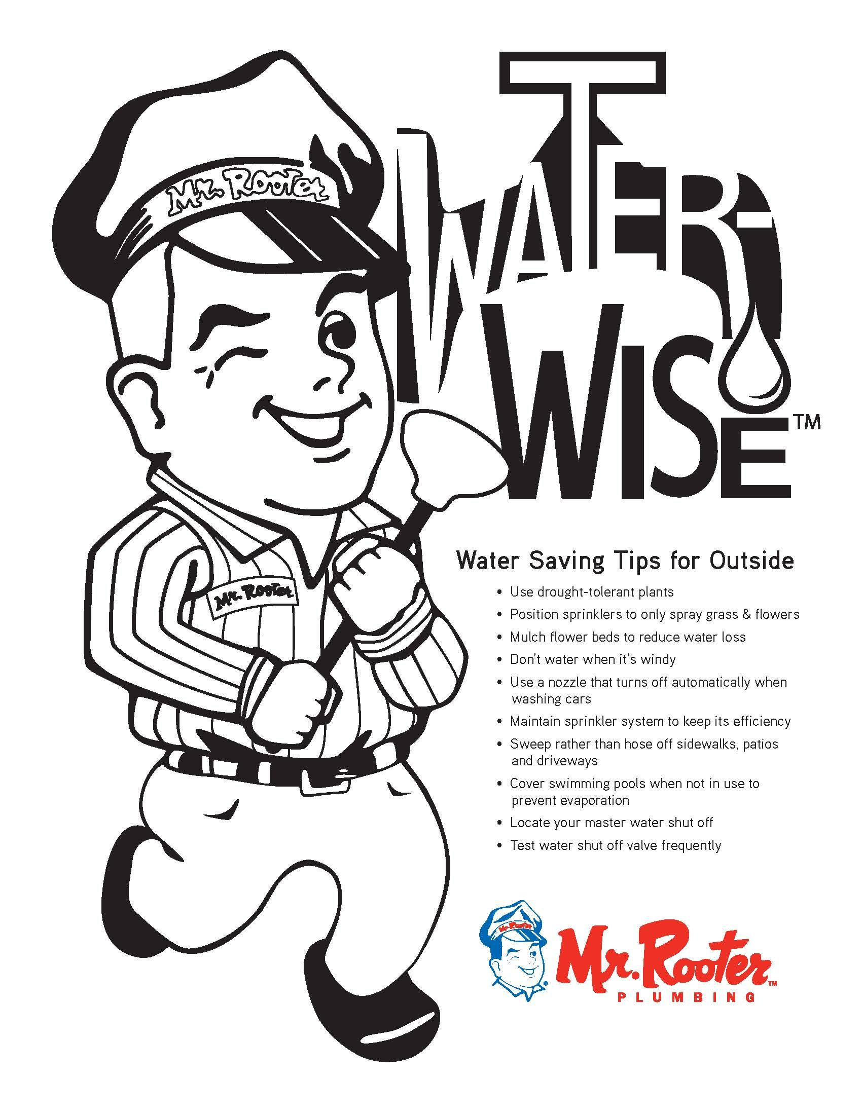 Kid Zone Water Conservation Coloring Page Enjoy