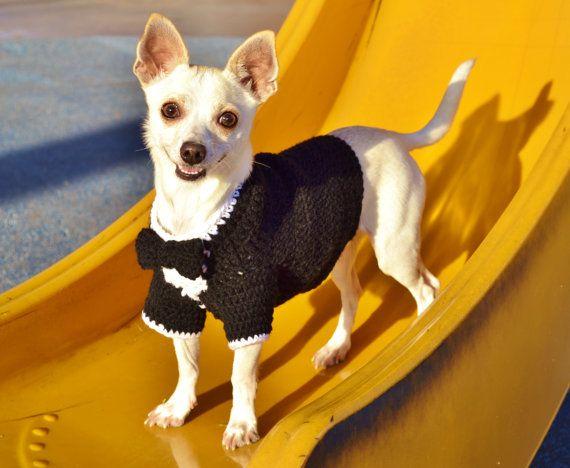 ab4fb7cdca02 Esmoquin de boda para perros, suéter de perro de esmoquin, suéter de ...
