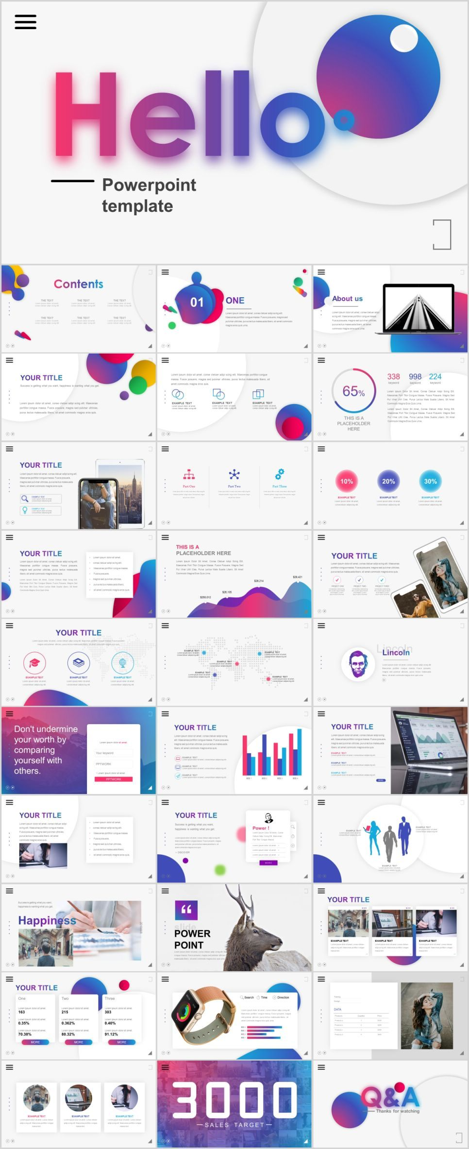 31 best multicolor charts report powerpoint template powerpoint
